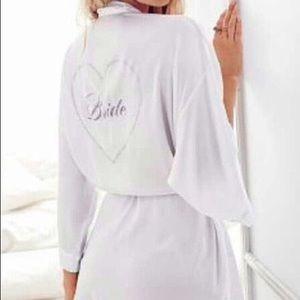 """NWOT """"I Do"""" Victoria's Secret Bridal Robe"""